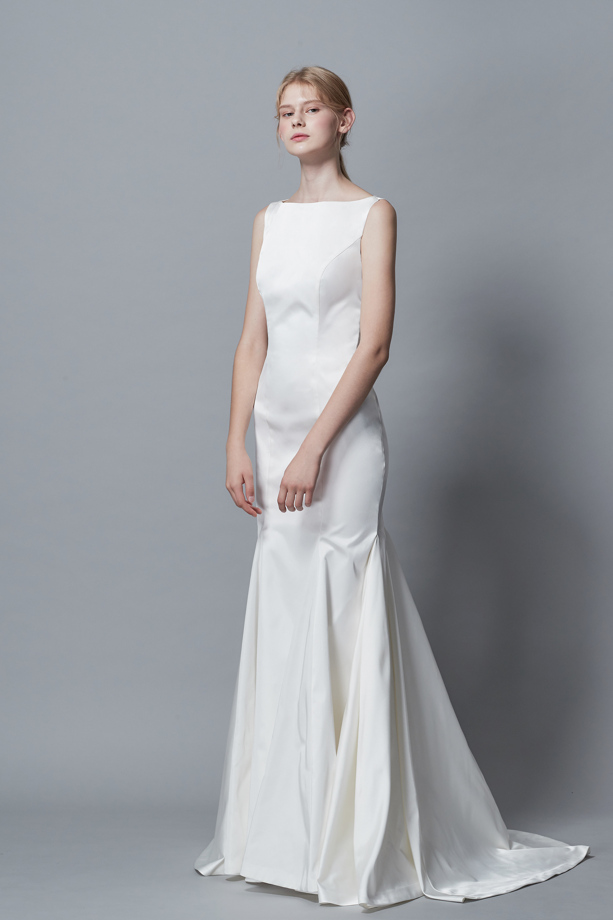 Ciel Blanc Bridal (CL Bridal), CL BRIDAL, MERMAID WEDDIGN DRESS, TAFFETA, BOAT NECK